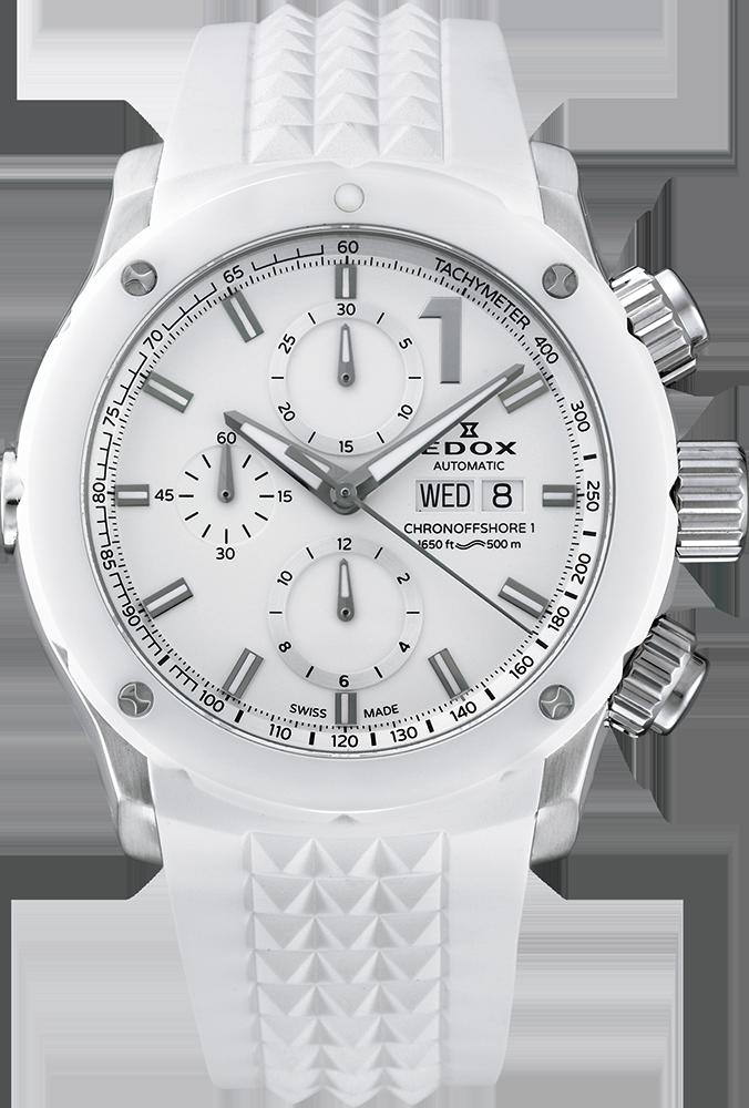 EDOX 爽やかな白のクロノオフショア1